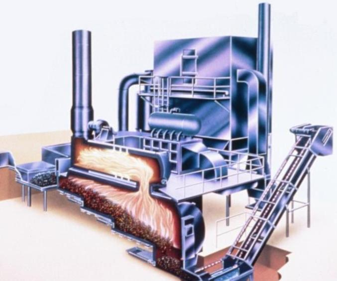 Consumat incineration system with baghouse
