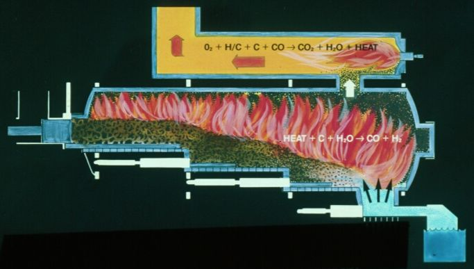 Consutech incinerator cross section